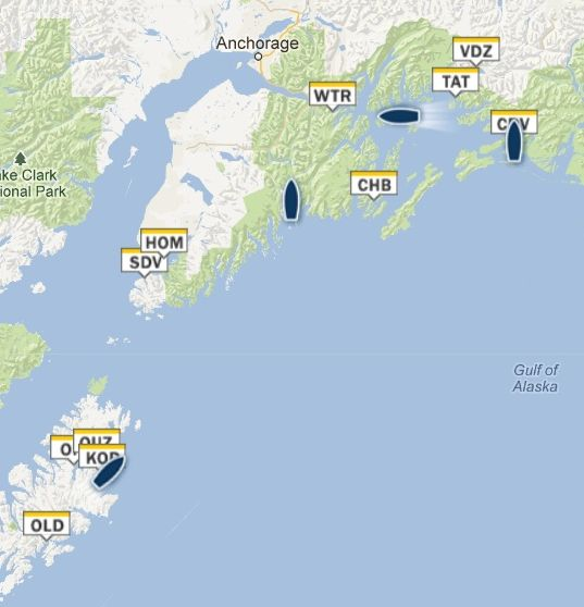 Alaska Marine Highway Map