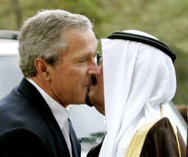 Bush kiss