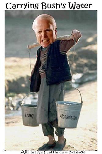 BartCop.com Volume 2120 - Complete Oxygen, top toon - McCain caries Bush's water