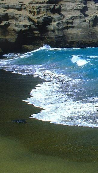 green beach hawaii