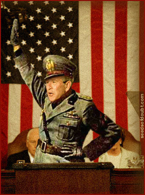 Bush as Mussolini